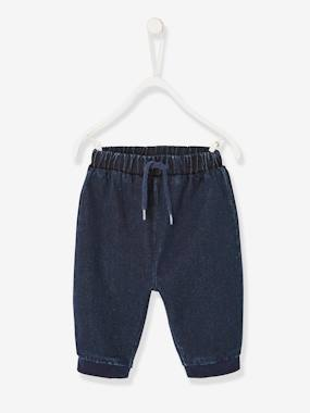 Baby-Trousers & Jeans-Soft Denim Trousers for Newborn Babies