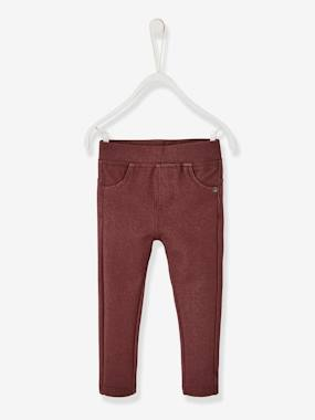 Baby-Trousers & Jeans-Fleece Treggings for Baby Girls