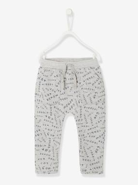 Baby-Printed Fleece Trousers for Baby Boys