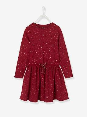 Festive favourite-Printed Dress, for Girls