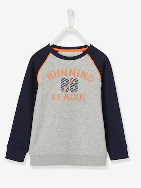 Boys-Sportswear-Sports Sweatshirt, Motif in Relief, for Boys