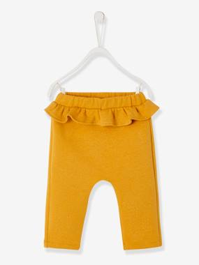 Vertbaudet - Trousers girls boys and babys-Frilly Trousers for Baby Girls, Iridescent Fleece
