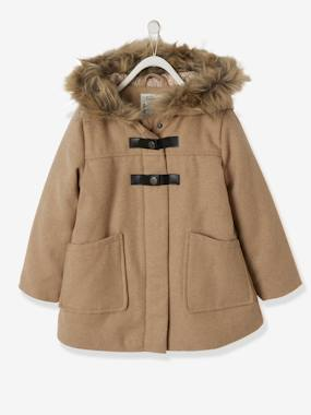Girls-Coats & Jackets-Coats & Parkas-Duffle-Type Coat with Hood, for Girls