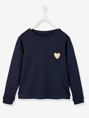 Vertbaudet Collection-Girls-Cardigans, Jumpers & Sweatshirts-Girls' Pretty Sweatshirt