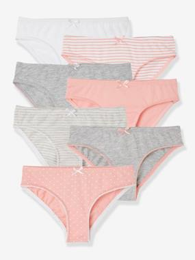 Girls-Underwear-Pack of 7 Briefs for Girls