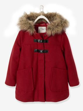 Vertbaudet Collection-Girls-Duffle-Type Coat with Hood, for Girls