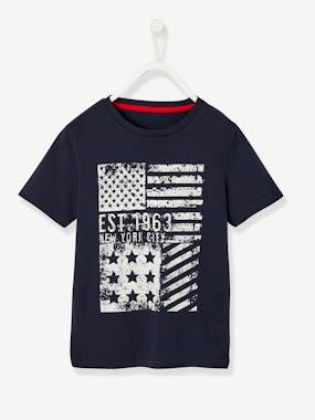 Vertbaudet Sale-T-Shirt for Boys, Flag Motif