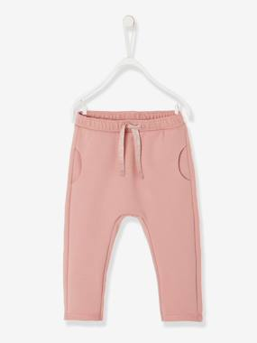 Vertbaudet Basics-Baby-Casual Fleece Trousers for Baby Girls