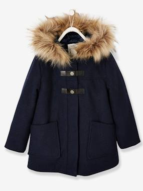 Collection Vertbaudet-Manteau fille à capuche style duffle