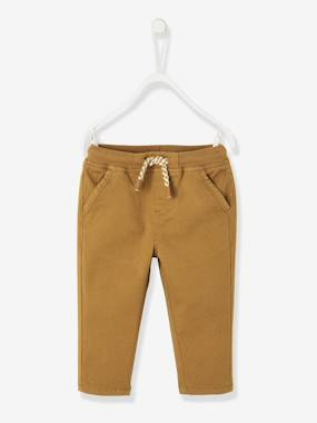 Baby-Trousers & Jeans-Lined Twill Trousers for Baby Boys