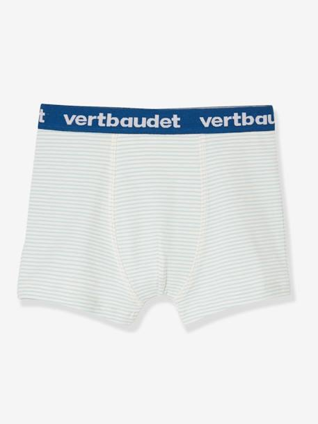 Pack of 3 Stretch Boxers for Boys, Construction BLUE LIGHT TWO COLOR/MULTICOL - vertbaudet enfant