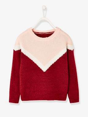 Vertbaudet Collection-Girls-Cardigans, Jumpers & Sweatshirts-Colourblock Jumper for Girls