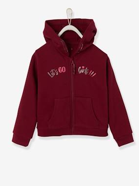 Girls-Sportswear-Hooded Jacket with Zip, for Girls