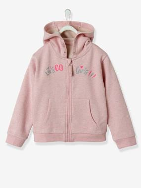 Vertbaudet Collection-Girls-Sportswear-Hooded Jacket with Zip, for Girls