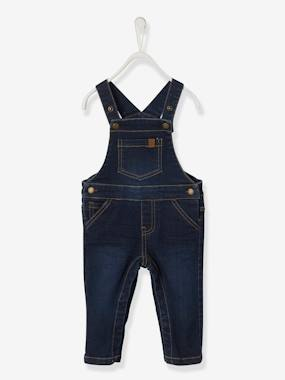 Baby-Dungarees & All-in-ones-Denim Dungarees for Baby Boys