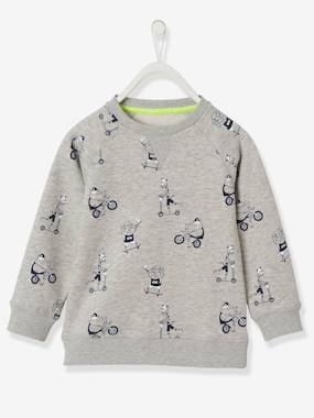 Boys-Cardigans, Jumpers & Sweatshirts-Sweatshirt with Fun Motifs, for Boys