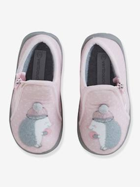 Shoes-Baby Footwear-Slippers & Booties-Zipped Pram Shoes for Baby Girls