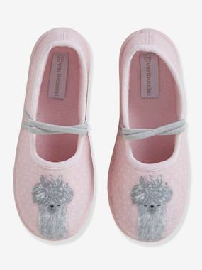 Vertbaudet Basics-Ballet Pump Canvas Shoes for Girls