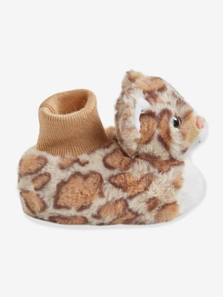 Plush Slippers for Baby Boys BEIGE MEDIUM ALL OVER PRINTED - vertbaudet enfant