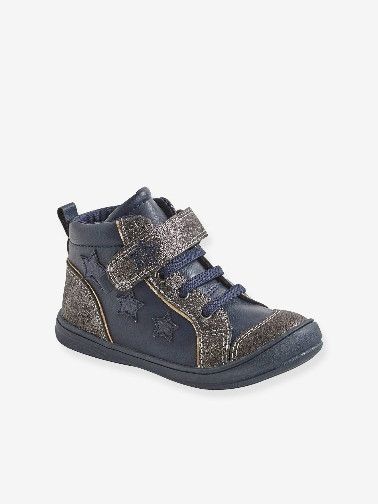 Bottines fille collection maternelle marine, Chaussures