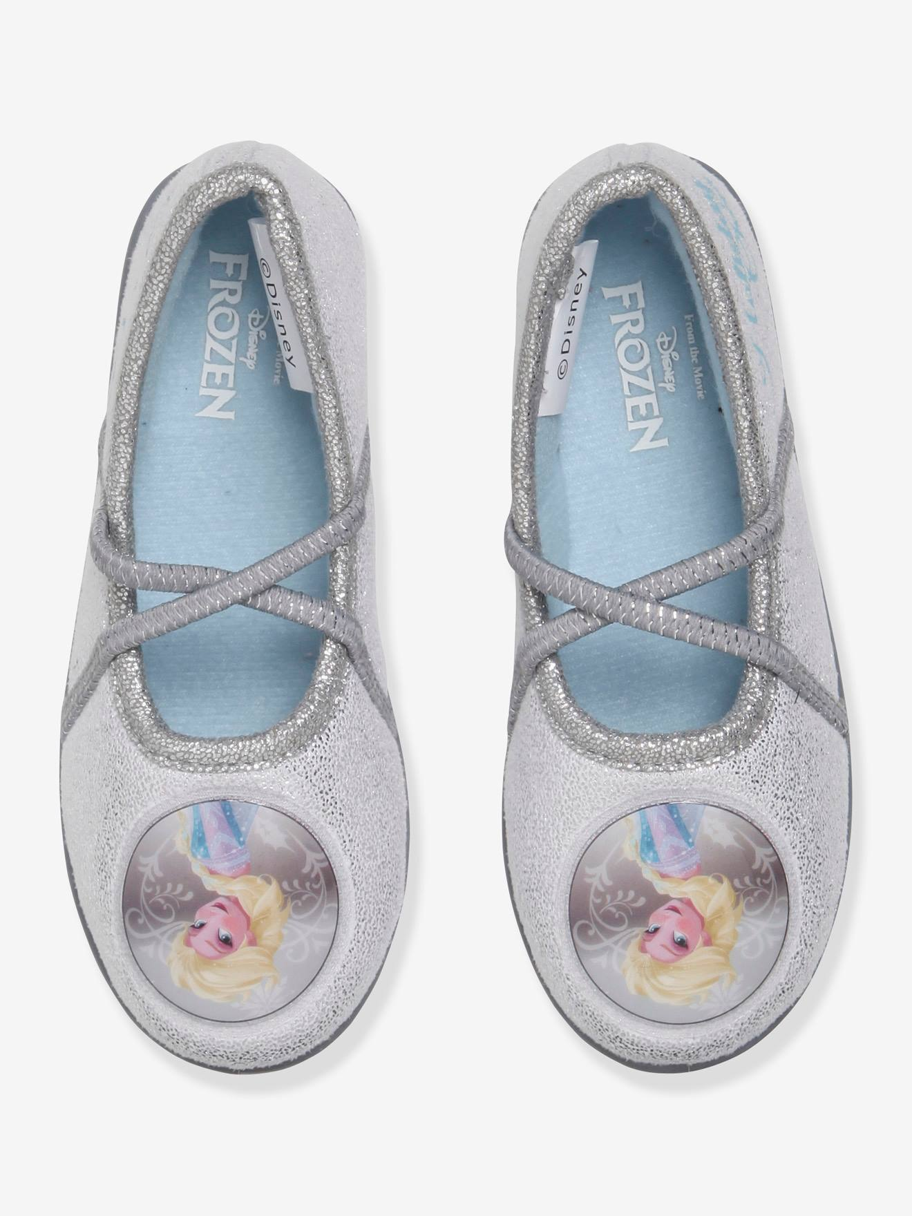 0dd8b4483dd58 Frozen® Mary Jane Shoes with Glitter, for Girls - grey light metallized,  Shoes
