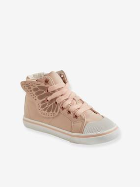 Schoolwear-Shoes-Trainers with Zip + Laces & Butterfly, for Girls