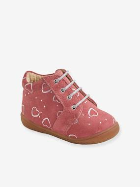 Schoolwear-Shoes-Leather Ankle Boots for Baby Girls, Designed for First Steps