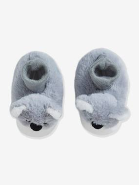 Shoes-Baby Footwear-Slippers & Booties-Plush Slippers for Baby Girls