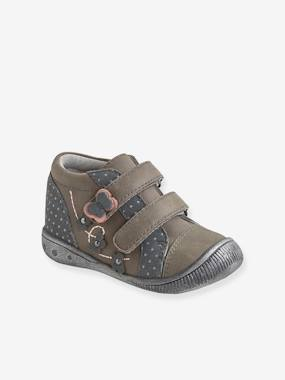 Shoes-Baby Footwear-Touch-Fastening Leather Ankle Boots for Baby Girls