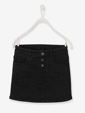 Vertbaudet Collection-Girls-Skirts-Straight Cut Denim Skirt