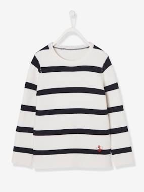 Boys-Cardigans, Jumpers & Sweatshirts-Marine Jumper for Boys