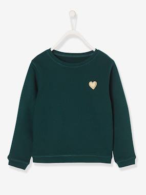 Vertbaudet Basics-Girls-Girls' Pretty Sweatshirt
