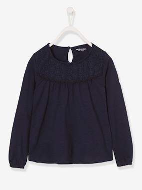 Vertbaudet Collection-Girls-Tops-Lacey Top for Girls