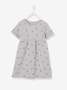 Vertbaudet Basics-Short-Sleeved Dress for Girls