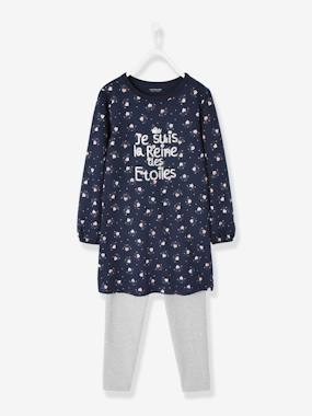 Girls-Nightwear-Glow-in-the-Dark Nightdress + Leggings for Girls in Cotton Jersey