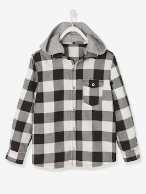 Boys-Shirts-2-in-1 Checked Shirt for Boys