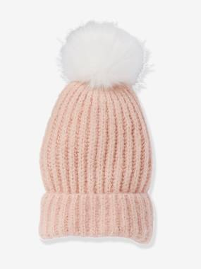 Girls-Accessories-Hair Accessories-Beanie with Pompom, for Girls