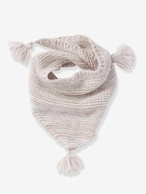Girls-Accessories-Scarf with Pompons, for Girls