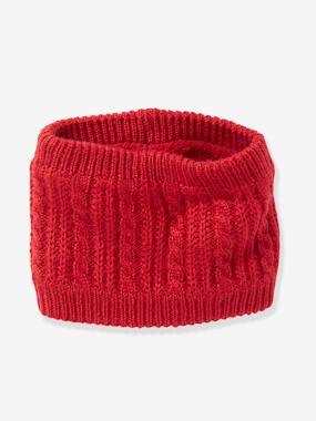 Girls-Accessories-Winter Hats, Scarves, Gloves & Mittens-Cable Knit Snood for Girls