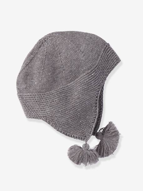Stylish Trapper Hat, for Babies GREY MEDIUM MIXED COLOR - vertbaudet enfant