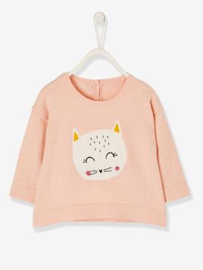 Baby-Jumpers, Cardigans & Sweaters-Knitted Jumper with Animal, for Baby Girls