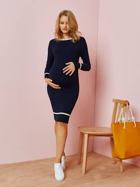 Vertbaudet Collection-Maternity-Dresses-Maternity Sweater Dress