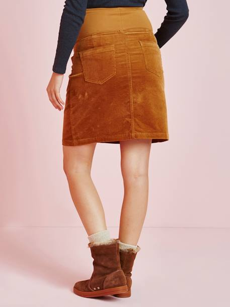 SKIRT BROWN LIGHT SOLID - vertbaudet enfant