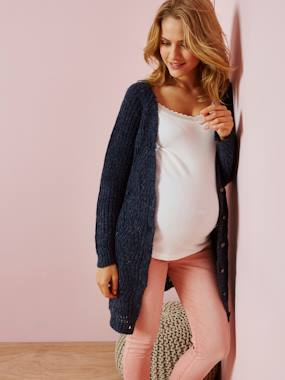 Maternity-Knitwear-Long Cardigan for Maternity