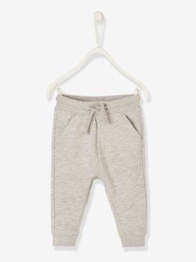 Vertbaudet Basics-Baby-Fleece Trousers for Boys, Joggers-Style