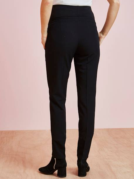 Maternity Cigarette Trousers BLACK DARK SOLID - vertbaudet enfant