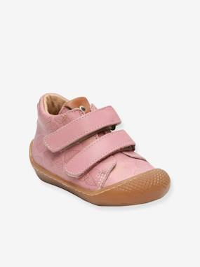Shoes-Baby Footwear-Baby Girl Walking-Touch-Fastening Leather Ankle Boots for Baby Girls, Arloa by Babybotte®