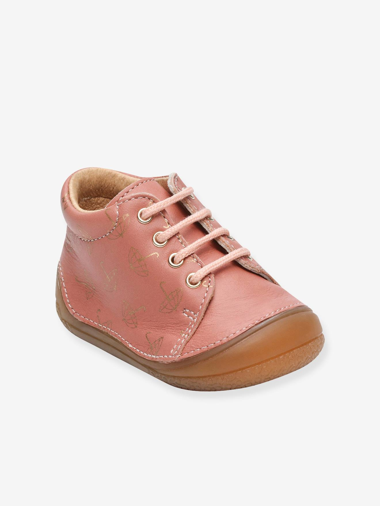 Lace-Up Leather Ankle Boots for Baby