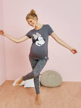 Maternity-Nightwear & Loungewear-Maternity 2-Item Pyjamas, Minnie® Motif with Sequins