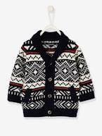 Jacquard Knit Cardigan, for Baby Boys  - vertbaudet enfant